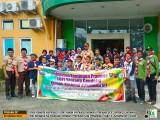 Ka Kwarcab Gerakan Pramuka Pekanbaru Lepas Peserta Kemnas IV Sako SIT Kontingen Pekanbaru di Bintang Cendekia
